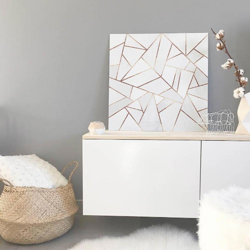 tableau marbre blanc